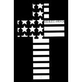 NOTW, God Bless America Window Decal, White, 5 1/2 x 3 1/2 inches