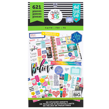 MAMBI, Happy Planner Faith Value Pack Stickers, 621 stickers