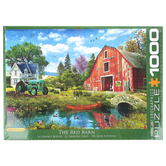 Eurographics, The Red Barn Puzzle, 1000 Pieces, 26 1/2 x 19 1/4 inches