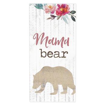 P. Graham Dunn, Mama Bear Wood Block, Wood, 1 x 3 1/2 inches