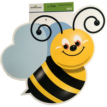 Renewing Minds, Bee Two-Sided Hanging Decoration, 1 Piece