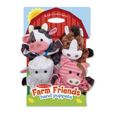Melissa & Doug, Farm Friends Hand Puppets, Ages 2 to 6 Years, 4 Pieces