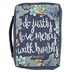 Faithworks, Micah 6:8, Do Justly Love Mercy Walk Humbly Bible Cover, Canvas, Large