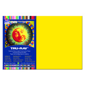 Pacon, Tru-Ray® Sulphite Heavy Weight Construction Paper, 12 x 18 inches, Yellow, 50 Sheets