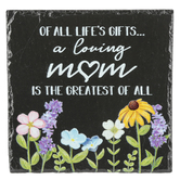 Carson Home Accents, A Loving Mom Easelback Plaque, Black, 2 x 5 x 2 Inches