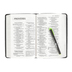 NIV Personal Size Reference Bible, Large Print, Genuine Leather, Black