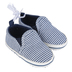 Stephan Baby, Striped Baby Shoes, Canvas, Navy & White, 6 to 12 Months