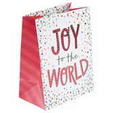 Renewing Faith, Joy To The World Small Gift Bag, 8 1/2 x 6 1/2 x 4 inches