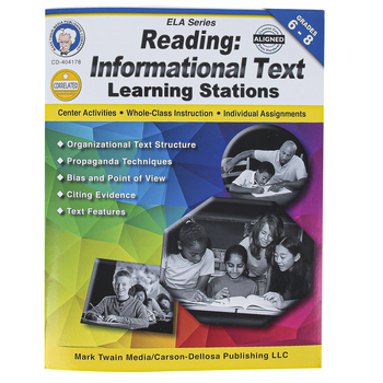 Carson-Dellosa, Reading Informational Text Learning Stations Workbook, Paperback, 48 Pages, Grades 6-8