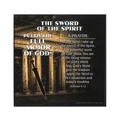 Dicksons, Ephesians 6:13-17 Armor of God Sword of the Spirit Plaque, MDF, 3 3/4 x 3 3/4 x 3/4 inches