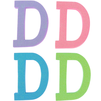 Glitter Foam Alphabet Letter Upper Case - D, 4 x 5.5 x .50 Inches, 1 Each, Assorted Colors