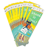 Teacher Created Resources, Pete The Cat School Is Cool Bookmarks, 2 x 6 1/2 inches, Set of 36