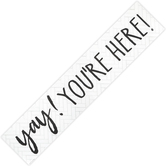 Teacher Created Resources, Modern Farmhouse Yay You're Here Classroom Banner, Horizontal, 39 x 8 Inches