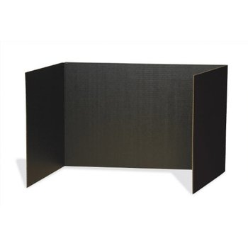 Privacy Boards, Black 4/pk
