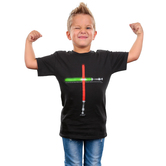 Gardenfire, John 8:12 Life Saver, Kid's Short Sleeve T-Shirt, Black, Small