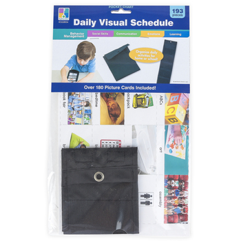 Carson-Dellosa, Daily Visual Schedule Pocket Chart, Special Needs, 193 Pieces, Grades PreK-8