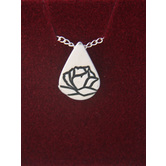 Christian Family Jewelers, Memorial Tear® Pendant Necklace, Sterling Silver, 18 Inches