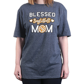 Rooted Soul, Blessed Basketball Mom, Women's Short Sleeve T-Shirt, Dark Heather, Small