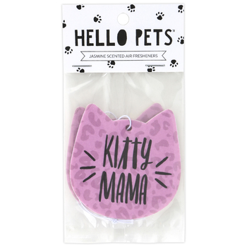 About Face Designs, Kitty Mama Air Freshener, Jasmine, 3 x 3 inches, Set of 2