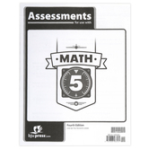 BJU Press, Math 5 Assessments, 4th Edition, 36 Pages, Paperback, Grade 5