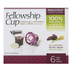 Broadman & Holman, Fellowship Cup Pre-filled Communion Cups with Wafers, Set of 6