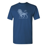 Gardenfire, Roaring Like a Lion, Men's Short Sleeve T-Shirt, Indigo