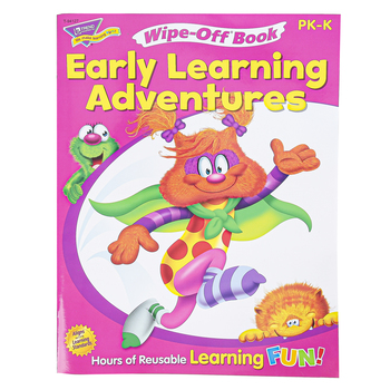 TREND, Early Learning Adventures Wipe-Off Book, 28 Pages, Grades PreK-K
