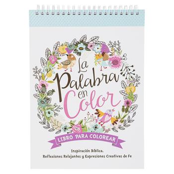 Christian Art Gifts, La Palabra En Color, Spiral Hardcover, 50 Designs