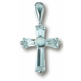 Small Cross With CZs Pendant Necklace