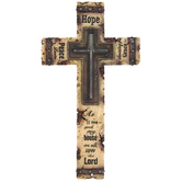 Joshua 24:15 Resin Wall Cross, 15 x 8 1/2 inches