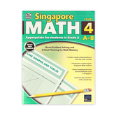Thinking Kids, Singapore Math Level 4 A and B Workbook, Reproducible Paperback, 256 Pages, Grade 5