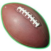 Renewing Minds, Football Two-Sided Hanging Decoration, 1 Piece