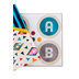 Color Me Brilliant Collection, Round Bulletin Board Letters, Uppercase, 4 Inches, Assorted Colors, 175 Pieces