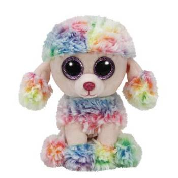 Ty Beanie Boos, Rainbow the Poodle, Multicolor, 6 inches