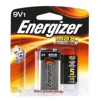 Energizer, Max 9 Volt Battery with Powerseal