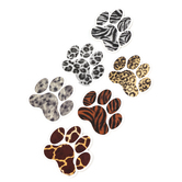 Renewing Minds, Realistic Paw Prints Mini Cutouts, 3-Inch Die-Cut, 6 Assorted Designs, 36 Pieces