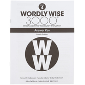 Wordly Wise 3000 4th Edition Answer Key Book 4, Paperback, Grade 4