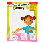 Evan-Moor, How to Write A Story Teacher Reproducible, Paperback, 96 Pages, Grades 1-3