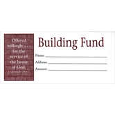 Broadman & Holman, Building Fund Envelopes, 6 1/4 x 3 inches, White and Red, Set of 100