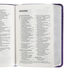 CSB Compact Reference Bible, Large Print, Imitation Leather, Purple, Floral Pattern