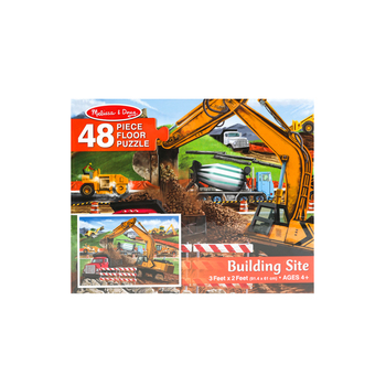 Melissa & Doug, Building Site Floor Puzzle, Ages 3 to 7 Years Old, 48 Pieces