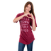 Crazy Cool Threads, Fully Known Deeply Loved, Women's Short Sleeve T-Shirt, Brick, Small