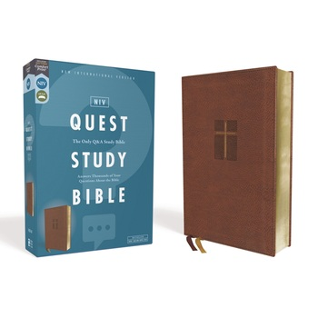 NIV Quest Study Bible, Imitation Leather, Brown
