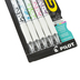 Pilot, G2 Fashion Collection White Barrel Retractable Gel Pens, Fine Point, Assorted Colors, Pack of 5