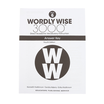 Wordly Wise 3000 4th Edition Answer Key Book 6, Paperback, Grade 6