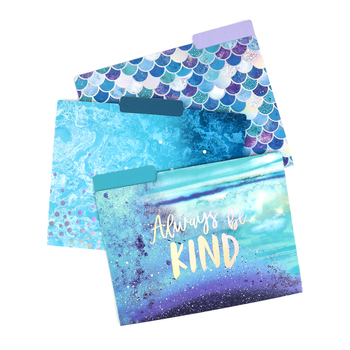 Always Be Kind File Folders, 3 Assorted Designs, Multi-Colored, 12 Count