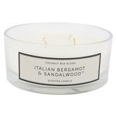 Italian Bergamot & Sandalwood Jar Candle, Glass & Wax, 24 ounces