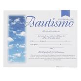 Broadman Church Supplies, Bautismo Spanish Baptism Certificates, 11 x 8 1/2 inches, Set of 6