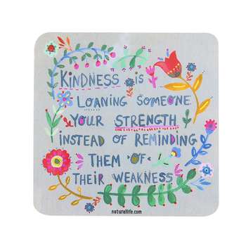 Natural Life, Kindness Is Square Sticker, Vinyl, 4 inches