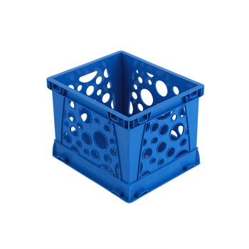 Storex, Micro Crate, Blue, 5.80 x 6.75 x 4.80 Inches, 1 Piece